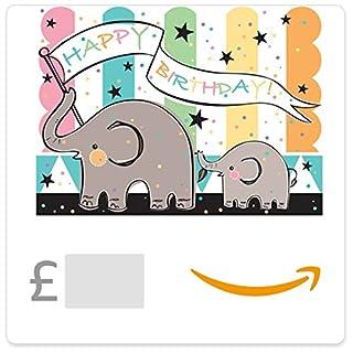 Happy Birthday (Elephants) -  Amazon.co.uk eGift Voucher