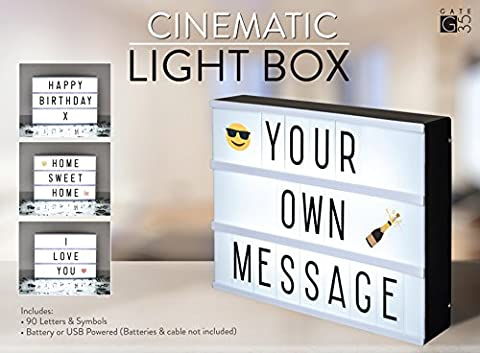 A4 Cinematic Light Box Sign with Letters and Emojis for Parties, Weddings, Promotion, Baby