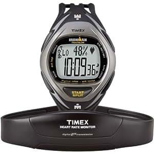 Timex - T5K217HE  Ironman Race Trainer - Montre Homme - Cardiofréquencemètre numérique - 50 Lap - 10 entrainements mémorisables - Bracelet résine noir - technologie ANT+Sport
