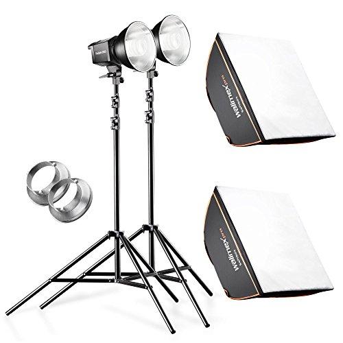 Walimex Daylight-Studioset (2x 250SWatt Daylight inkl. Softbox 40x40 cm, 2x Lampenstativ)
