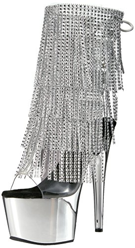 Pleaser ADORE-1017RSF Clr-Slv/Slv Chrome