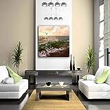 NIMCG Wall Art Photos Arbres Plage Océan Impression sur Toile Paysage Affiches avec pour La Maison Salon Décoration (sans Cadre) R1 30x40CM