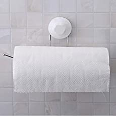 Emndr Self Adhesive Toilet Paper Roll Holder - Reusable Plastic Towel Ring - elf Adhesive, Wall Mount, No Screws, No Drill, Washable, Re-stickable, Reusable