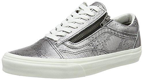 Vans Unisex-Erwachsene Old Skool Zip Low-Top, Mehrfarbig ((Disco Python) Black/Blanc De Blanc), 42 EU (Python-leder Herren)