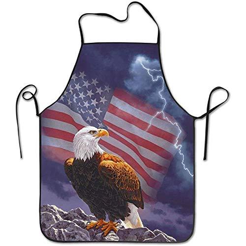 DEVP aprons American Flag Eagle Schürzen für Frauen/Männer Lätzchen Save-All Barbecue Kochtuch Funny Chef Schürze -