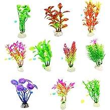 ASTARC Plantas acuáticas Artificiales, Plantas de Acuario Decoraciones de acuarios de plástico, Simulación Criatura