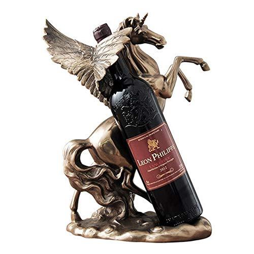 YSYDE Weinflaschenregal, Day Horse Weinregal, hochwertiges Harzmaterial, schöne Atmosphäre,...