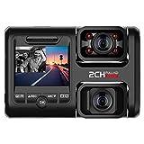 OOOUSE Dual Dash Cam, 1080P Full HD Car DVR Dashboard Camera Recorder