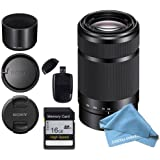 Sony E-Mount 55-210mm F 4.5-6.3 Lens for Sony E-Mount + 16GB SD Memory Card and USB SD Card Reader