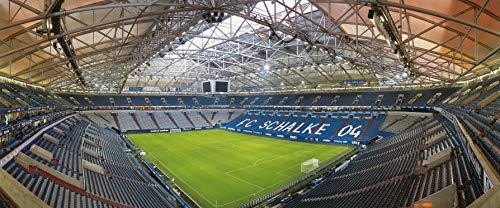 Blue-Letter Gelsenkirchen Stadion Panorama - Hochwertiger FineArtPrint (120 cm x 50 cm) -
