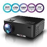 Proiettore TENKER Migliorato, 70% Più Luminoso, Mini Proiettore di Film Home Theatre, Videoproiettore Portatile Supporta 1080 P HDMI / USB / Scheda SD / AV / VGA TV / Portatili / Giochi