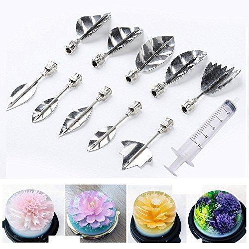 Cisixin 3D Gelatine Kunst Werkzeuge Jelly Kuchen Dekor Werkzeuge Set