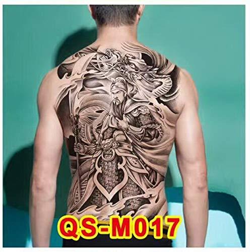 BRT 48 X 34cm Große Tattoo Aufkleber 20 Neu Gestaltet Enden Dunklen Engel Wolf Buddha Temporäre Flash Tattoo Voller Rücken Körper Cool Man (Body Paint Halloween Kostüme Für Frauen)