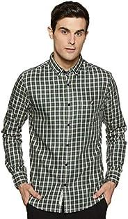 Amazon Brand - House & Shields Men's Checkered Regular fit Casu