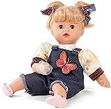 Götz Puppe Muffin Macaron – 33 cm Stoff-Babypuppe, Blondes Haar mit Pony, Blaue Schlafaugen, Spielzeug für Mädchen ab 3 Jahren (8-teiliges Set inkl. Schnuller)
