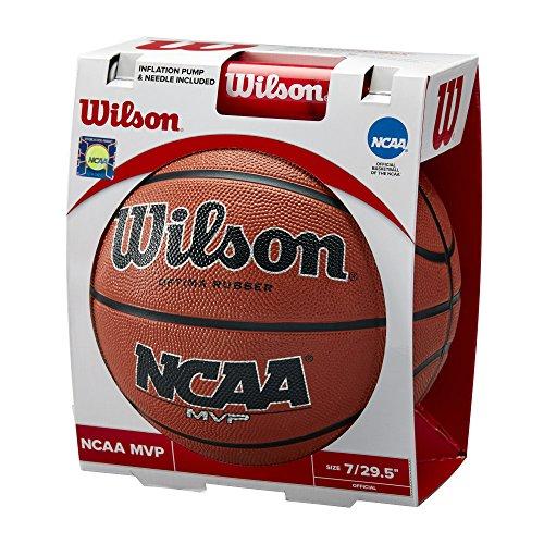 WILSON Sporting Goods NCAA MVP Basketball & Pumpe, Offizielle Größe-74,9cm