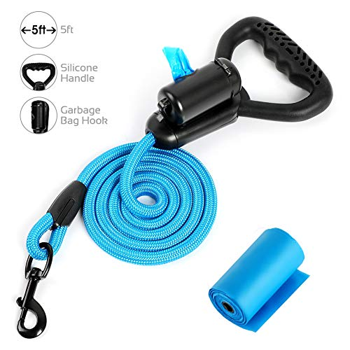 Correa Para Perros, 5 FT Strong Dog Leads with Comfortable Silicon Handle...