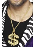No gangster or pimp costume is complete without some bling. Finish off your look with this Dollar Sign Medallion in gold.