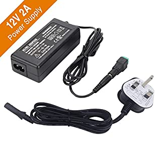 Signcomplex LED Driver 12V 2A Power Supply, AC 90-240V to DC 12V Adapter Switching Transformers for LED Strip Adapter 24 Watt Max, CE/TUV/GS Certification (UK Plug)