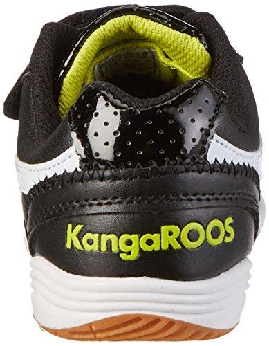 Kangaroos Power Court, Chaussures de sports en salle garçon Noir (Black/White/Lime 508)