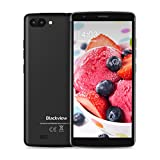 Blackview A20 Dual-SIM Smartphone, (Full HD 13.96 cm (5.5 Zoll), 8GB interner Speicher, 1GB RAM, 5 MP Plus 2 MP Kamera, Android Go, 3000mAh Akku) Schwarz