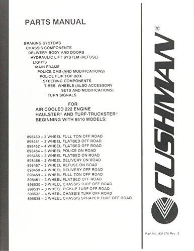 EzGo 8315742005Teile Handbuch für Cushman die Power Zug mit Air Cooled 222Motor (Cushman Motor)