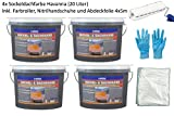 Sockel- & Dachfarbe inkl. 4x 5m Abdeckfolie (Sockelfarbe Havanna 5 Liter)