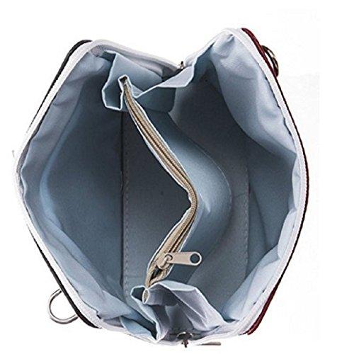 LeahWard® VERA PELLE ITALY GENUINE Leder Kreuzkörper Schulter KleinTasche FUCHSIA H16cm x W18cm x D8cm