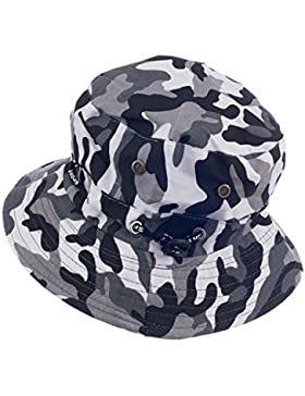Gazechimp Sombrero de Cubo Camo Boonie Casquillo Gorra Ancho de Sol para Acampar a Aire Libre Regalo de Pescador...