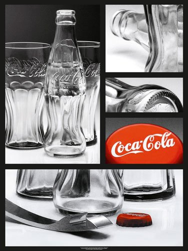 Art Prints 60x80 cm: Coca Cola Archives - Bottles - 80x60cm