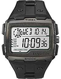Timex Men's Grid Shock LCD Dial with a Black Resin Strap Watch TW4B02500