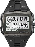 Timex Grid Shock - Reloj digital con correa de resina para hombre, color negr...