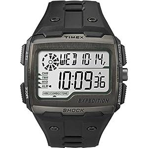 Timex Grid Shock – Reloj digital con correa de resina para hombre,
