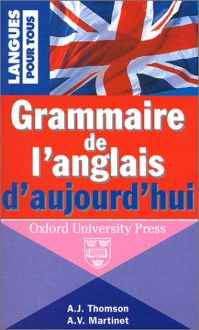 Grammaire de l'anglais d'aujourd'hui