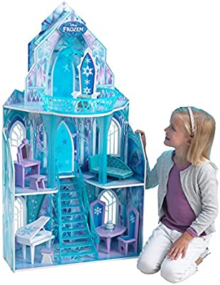 Frozen - Casa de muñecas, Castillo de hielo, color azul (Kidkraft 65881)