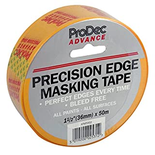 ProDec ATMT002 Advance Precision Edge Masking Tape (36mm), Yellow