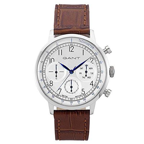 Gant Time Men's Watch Calver Tone Analogue Quartz Leather W71202