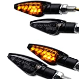 4 x Motorrad LED Mini Blinker 2 Paar Toledo schwarz Smoke getönt Blinkerset
