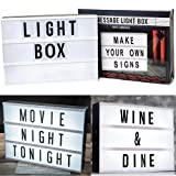 Image of A4 Light Up Letter Box Cinematic Led Sign Wedding Party Cinema Plaque Shop 30cm