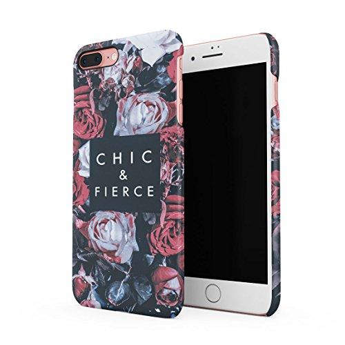 Vintage Chic & Fierce Passion Wild Rot Rose Blossoms Blume Pattern Dünne Rückschale aus Hartplastik für iPhone 7 Plus & iPhone 8 Plus Handy Hülle Schutzhülle Slim Fit Case Cover - Vintage-rose-taste