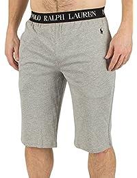 Polo Ralph Lauren Homme Logo Shorts Baudrier Slim Pyjama, Gris