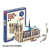 3D Puzzle Jigsaw Gebäude Kinder Spielzeug Weltberühmte Architektur Notre Dame de Paris 39 Teile