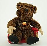 Steiff Teddybär, Loriot, 40 cm, braun, mit Sofa, limitiert