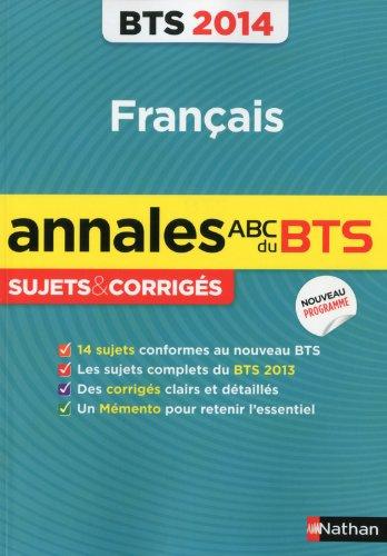 Français BTS : Annales, sujets corrigés