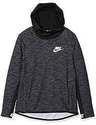 Nike B NSW Hoodie PO AV15 SSNL Sudadera, Niños, Negro (Black/White