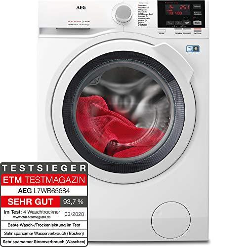 AEG L7WB65684 Waschtrockner / DualSense - schonende Pflege / 8,0 kg Waschen / 4,0 kg Trocknen / Energiesparend / Mengenautomatik / Nachlegefunktion / ProSteam - Auffrischfunktion / Kindersicherung