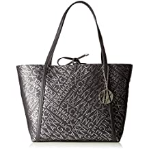 a62773db1e ARMANI EXCHANGE Medium Shopping Bag - Borse Tote Donna, Argento  (Antracite/Argento)