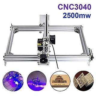 TopDirect 2500mW Laser Graviermaschine 3040 CNC Lasergravierer Engraving Carving Maschine Gravur Schnitzmaschine DIY Laserdrucker mit Schutzbrille, Gravurfläche 300x400mm