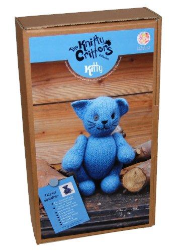 Knitty Critters Creative World Blue Kitty