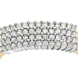 Naava 9 ct Yellow Gold Women's Diamond Ring Bild 2